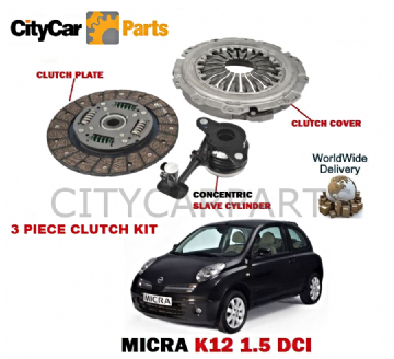 NISSAN MICRA K12 1.5 DCI 2003 ONWARDS  CLUTCH KIT WITH CONCENTRIC SLAVE CYLINDER